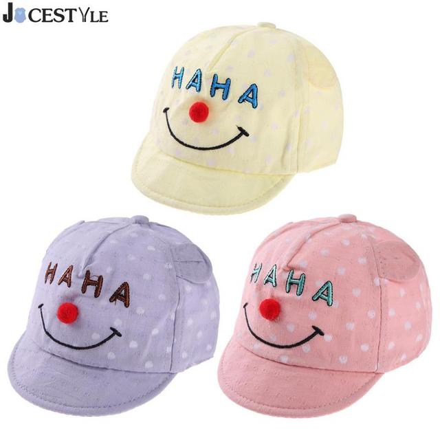 e8a6b859571 JOCESTYLE Autumn Winter Baby Cap Cartoon Letters Print Print Baby Boys  Girls Baseball Hat Soft Brim