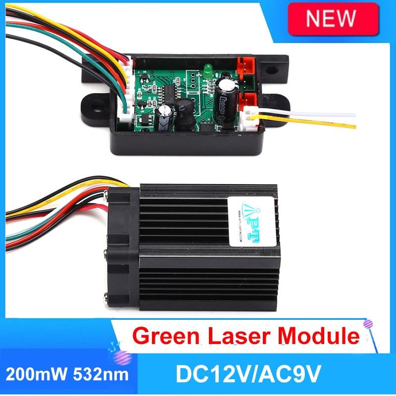 Fat Beam Steady 532nm 200mW Green Laser Module/DIY Stage Lighting