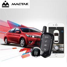 MACTAK SmartPhone Control PKE Car Alarm System Kit Smart Passive Auto Central Locking Door Keyless Push Remote Button 900A+B