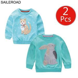 Image 3 - SAILEROAD 2 pcs สัตว์สาวเสื้อกันหนาวคริสต์มาสกวางเด็ก Hoodies ฤดูใบไม้ร่วงเด็กเล็กๆผ้าฝ้ายเสื้อกันหนาวเด็ก 7 ปี