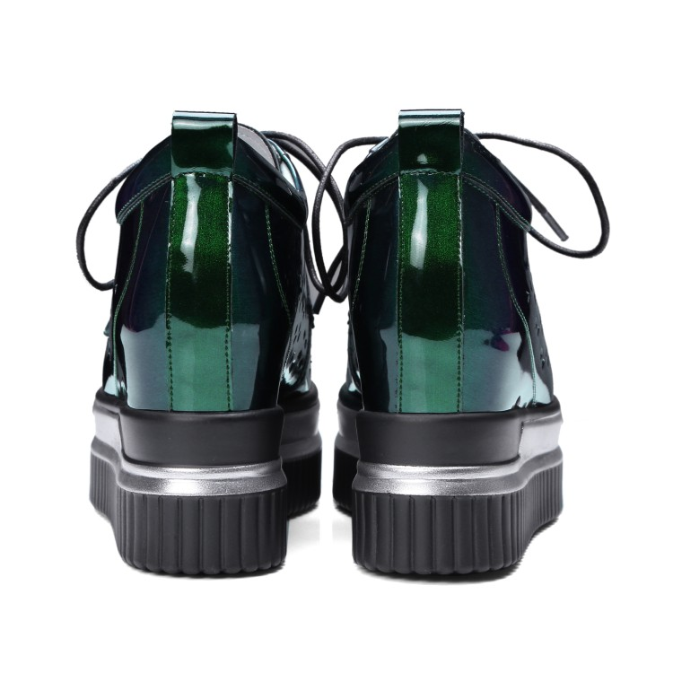 Cuñas Verde Tacones De Para Ocio {zorssar} Creciente Mujer Bombas Nueva Cuero Mujeres 2018 Altura Creepers Patente Zapatos Moda Las qx4PS7wU