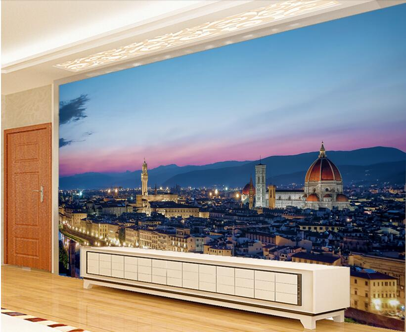 Custom foto d kamer behang non woven muurschildering fiorentina