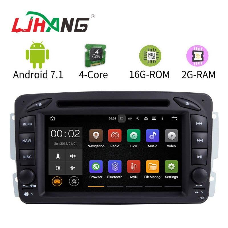 LJHANG 7 pouce Android 7.1 Lecteur DVD de Voiture Pour Mercedes Benz W209 W203 W168 W163 W463 Viano W639 Vito Vaneo multimédia GPS Radio