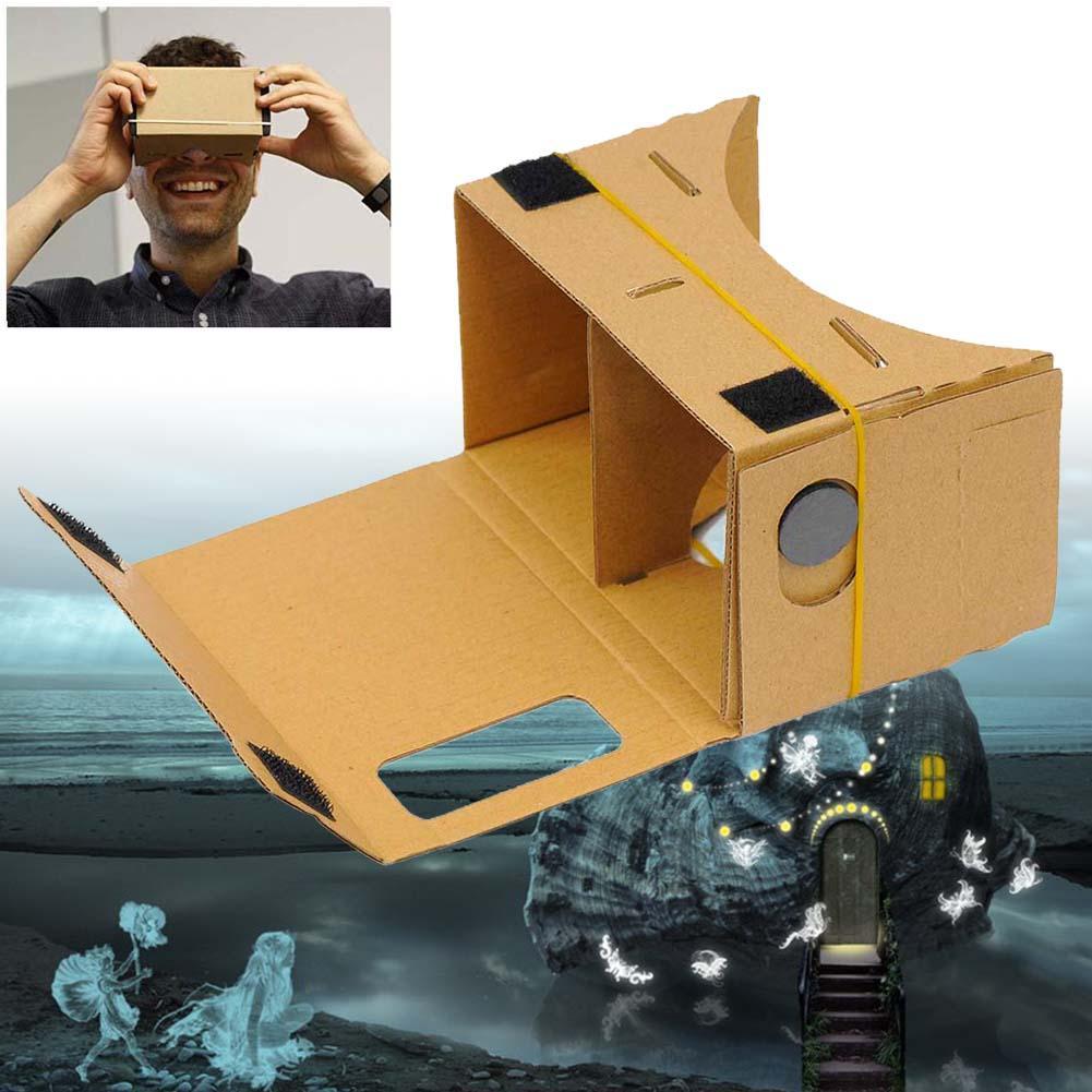 1x DIY Cardboard VR Virtual Reality 3D Glasses For iPhone Google phone Yellow APE