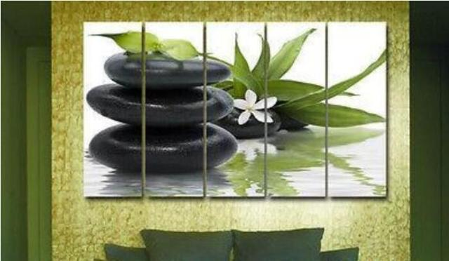 Zen Kiesel Blume Modernes Dekor Wand Leinwände Innen Ölgemälde Dekor Wand  Bild Riesige Bild Malerei
