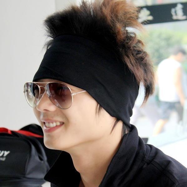 Padded headband male wigs four seasons hair band sports headband fashion  hair band hair band bandanas winter hat 25ebb3f6385