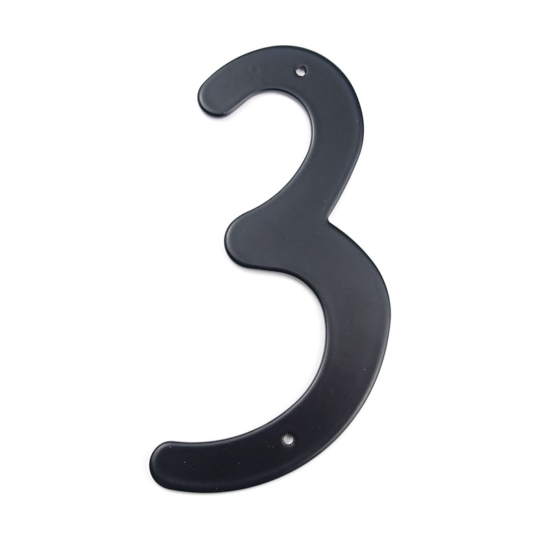 Black 101mm Height House Number Big House Door Address Number Digits Aluminum Nail Fixed Big Door Address Sign #3Black 101mm Height House Number Big House Door Address Number Digits Aluminum Nail Fixed Big Door Address Sign #3