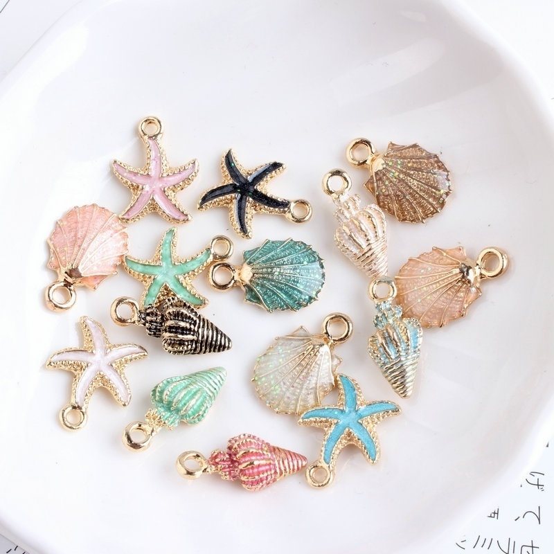 Jewelry-Decoration Charms Ocean-Pendants Craft-Making Conch Sea-Shell Fashion-Accessories