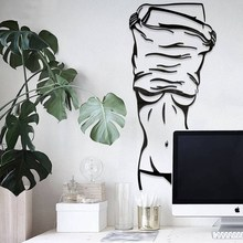 Northern Europe Sexy girl Simple modern wall sticker living room bedroom Background 3d acrylic DIY