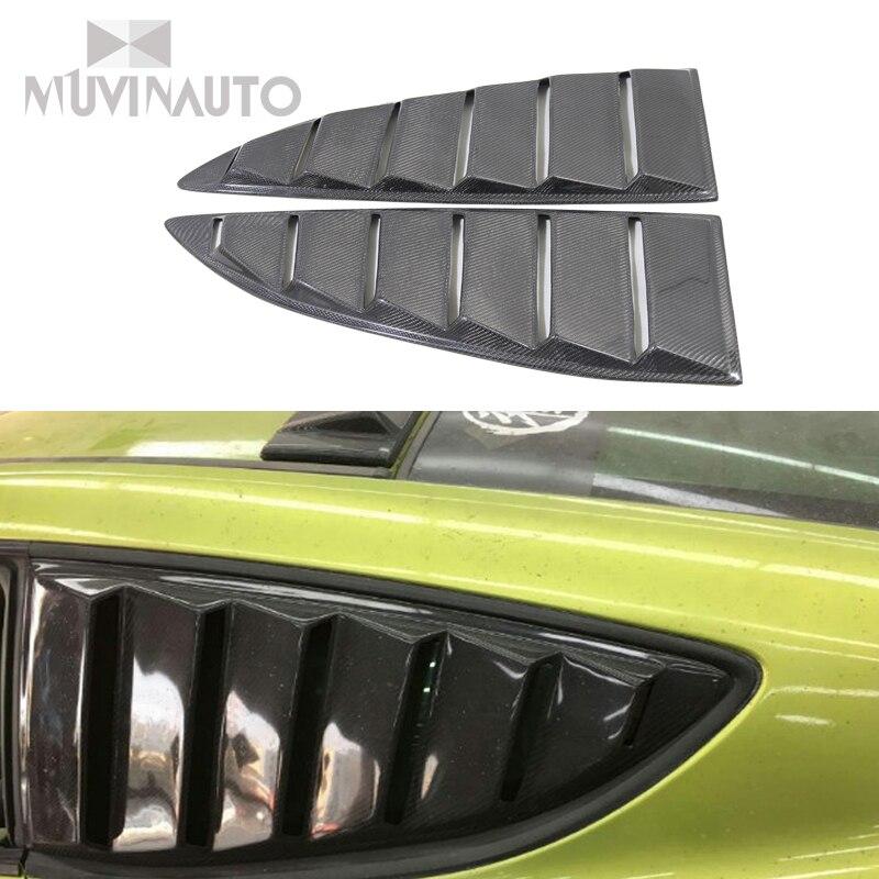 Otomobiller ve Motosikletler'ten Vücut Kitleri'de HYUNDAI Genesis için karbonlu Kepenk Arka Pencere Laurence Cool Modifiye Sağ ve Sağ Karbon Fiber Arka Pencere Panjur title=