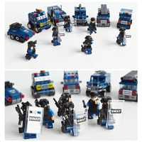 KAZI 84032 ville SWAT équipe 6 pièces bloc de construction ensemble briques Compatible avec legos enfants jeu militaire éducatif jouet d'apprentissage