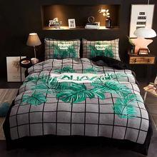 Coral Fleece Bedding Set  Flannel Winter Crystal Velvet Christmas Tree deer Sets Cartoon Girl Warm 4pcs Quilt Co