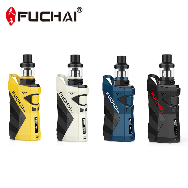 Original Sigelei Fuchai R7 230W Mod KIT TCR Vape Mod with 2.5ml T4 Tank coil E Electronic Cigarette cig FUCHAI R7 full kit electronic cigarette fuchai glo vape kit comes 2 8ml slydr m atomizer tank glo 230w box mod vs sigelei 213 plus vaporizer