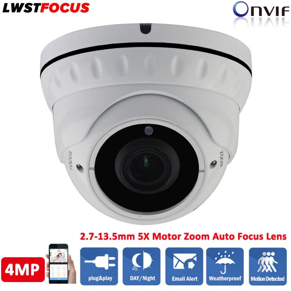 Здесь продается  LWSTFOCUS 2.7mm-13.5mm motorized lens 4MP WDR IR Eyeball Network Camera IR 30M IP Dome Camera POE Outdoor Waterproof CCTV Camera  Безопасность и защита