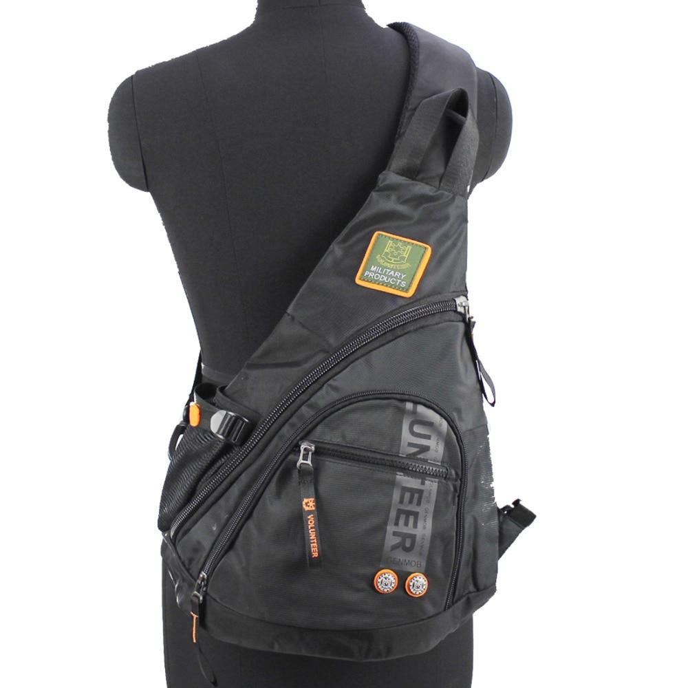 Waterproof Oxford Nylon Men Messenger One Shoulder Rucksack Cross Body Bag Book Male Knapsack Sling Chest Sling Back Pack Bags