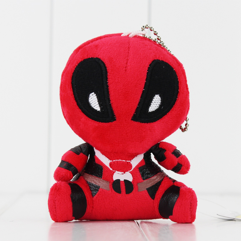 10cm X-men Deadpool <font><b>Spiderman</b></font> Plush Toys Stuffed <font><b>Soft</b></font> <font><b>Accessories</b></font> Pendant Doll Keychain Children's Gifts