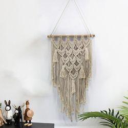 Ręcznie wiszące gobeliny ścienne makrama ceremonia ślubna tło sztuka ślub dom salon ornament dekoracyjny prezent