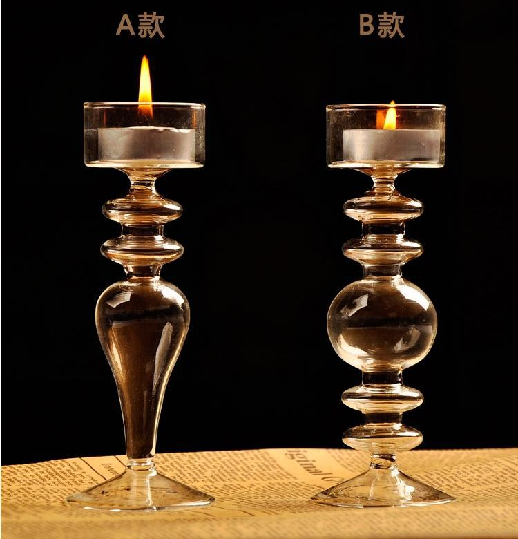Crystal Glass Candlestick Weeding Home Decor Hang Candle Holders Romantic Candlelight Dinner Candle Holder China