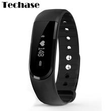 Techase ID101 HR смарт-браслет монитор сердечного ритма cicret Браслет фитнес-трекер Пульт дистанционного Управления Сообщение Напомнить rastreador