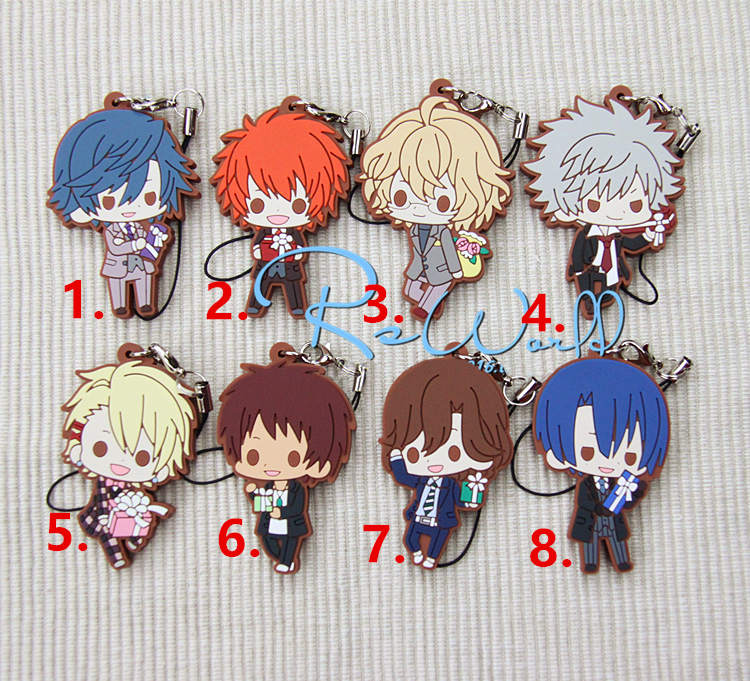 Uta no Prince Sama Anime Kurusu Syo Masato Ittoki Otoya Aijima Cecil Tokiya Natsuki Sweet Gift Rubber Keychain dhl ems free shipping 2 4g wifi gsm gprs sms wireless home house security intruder alarm system wireless flash siren