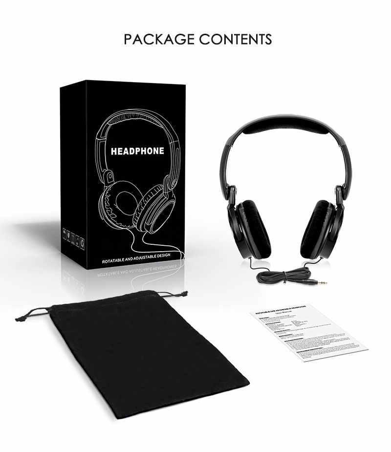 Dyni składana konstrukcja przewodowe słuchawki/zestaw słuchawkowy z 1.5 metr przewód uniwersalny 3.5mm Jack 40mm sterownik dla słuchawka do muzyki