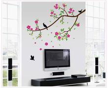1 Set 150*150CM Classical Chinese Wall Birds flower & Blooms Sticker Modern Style ZY9033 Living Room Decoration Art