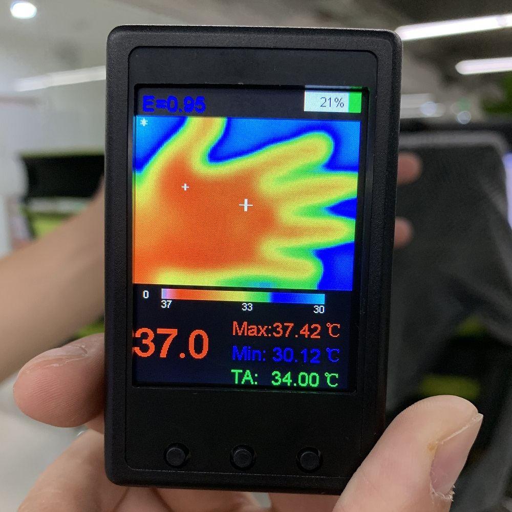 Nouveau HY-18 MLX90640 caméra thermographe à main capteur de température infrarouge numérique imageur thermique infrarouge