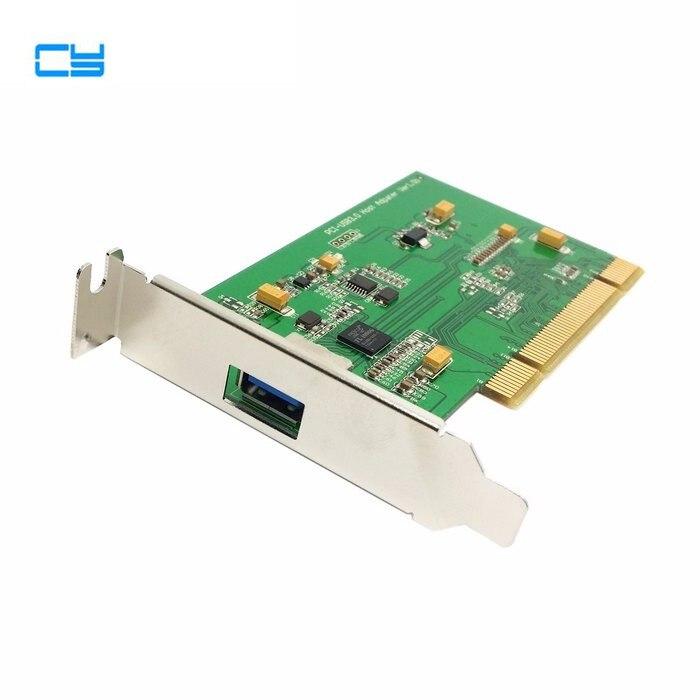 Port unique Super vitesse USB 3.0 PCI 16x 32x adaptateur de carte d'interface pour PC avec support de profil bas