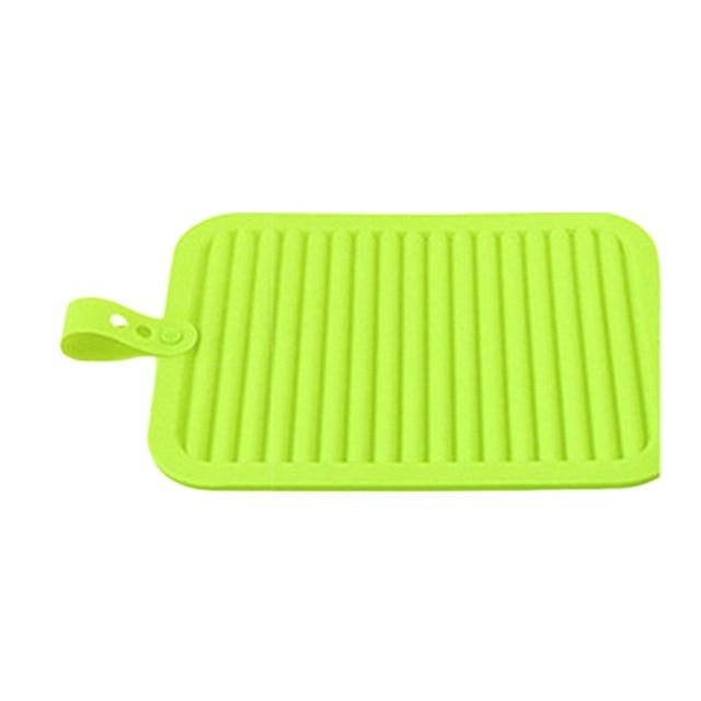 29 5 22 5cm Silicone Kitchen Drain Mats Insulation Hot Pan Heat Resistant Pad Non Slip Tableware Mat Worldwide 0598