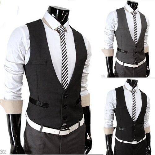 Мужчины в жилет отдыха платье жилет хлопок размер M - XXL