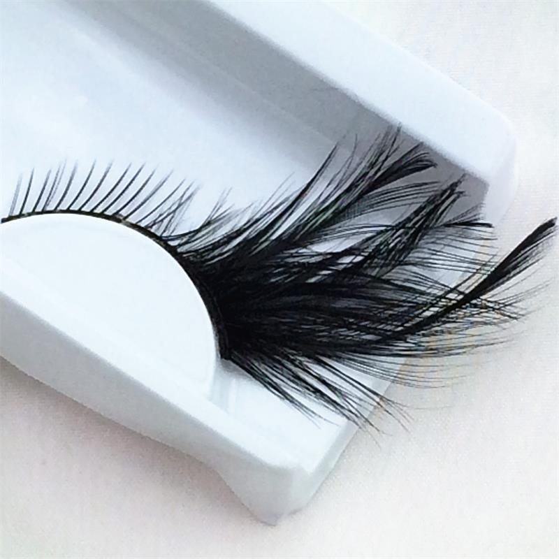 2e949ca2f27 hot 1 Pairs Black Feathers Thick 3D Natural False Eyelashes Stage ...