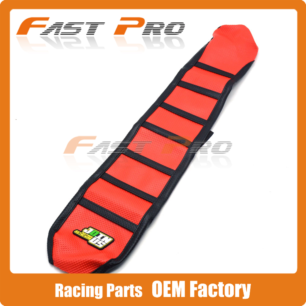 Pro Rib Ribbed Red Gripper Soft Rubber Seat Cover For CRF250R 2010-2013 11 12 CRF450R 2009-2012 10 11