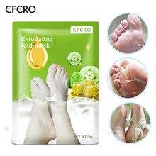 EFERO 3packs Plant Essence Exfoliating Foot Mask for Legs Dead Skin Remover Whitening Moisturizing Peeling Sock for Pedicure