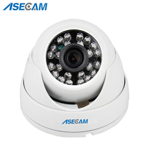 цена на New HD IP Camera 1080P POE Security Small indoor white Mini Dome Surveillance Camera CCTV IR Night Vision Onvif WebCam ipcam