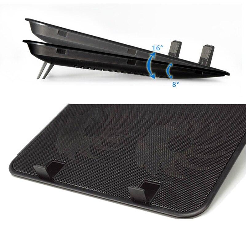 Ergonomic 14 inch usb power laptop cooler heatsink base 2 fan notebook cooling pad Computer Fan Base 140mm strong cool stand