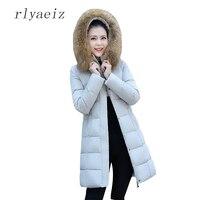 RLYAEIZ Women Winter Coat Fake Fur Hooded Parka Female Thicken Warm Cotton Jacket Women Padded Winter