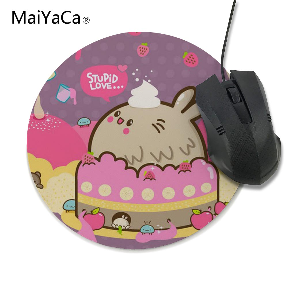 MaiYaCa 20x20cm and 22x22cm good size mouse pad Kids birthday cake cute gift table mat ,Pink series,Popular computer games mats