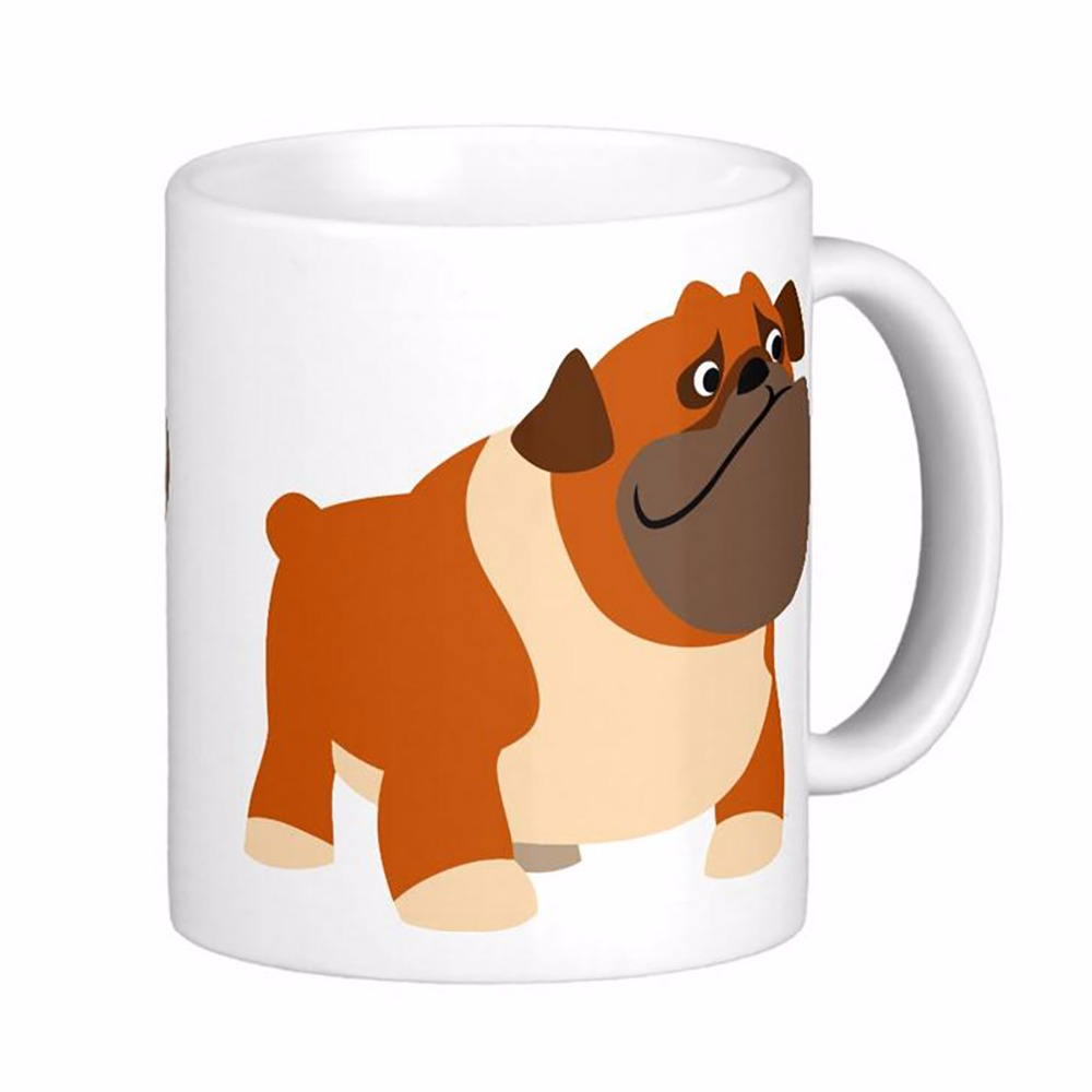cute english bulldog white coffee mugs tea mug customize gift by