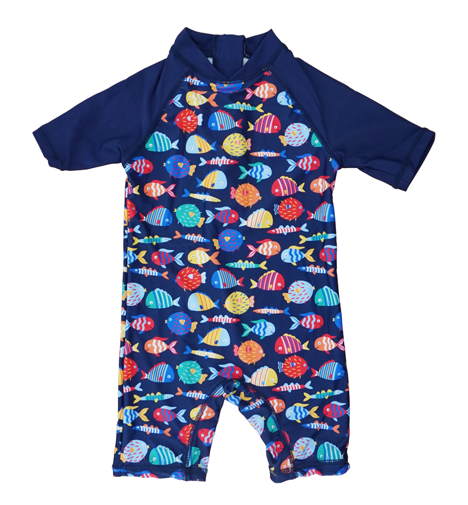 Sun Protection Swimsuit with Zipper Bonverano Baby Girl Toddler One-Piece UPF 50