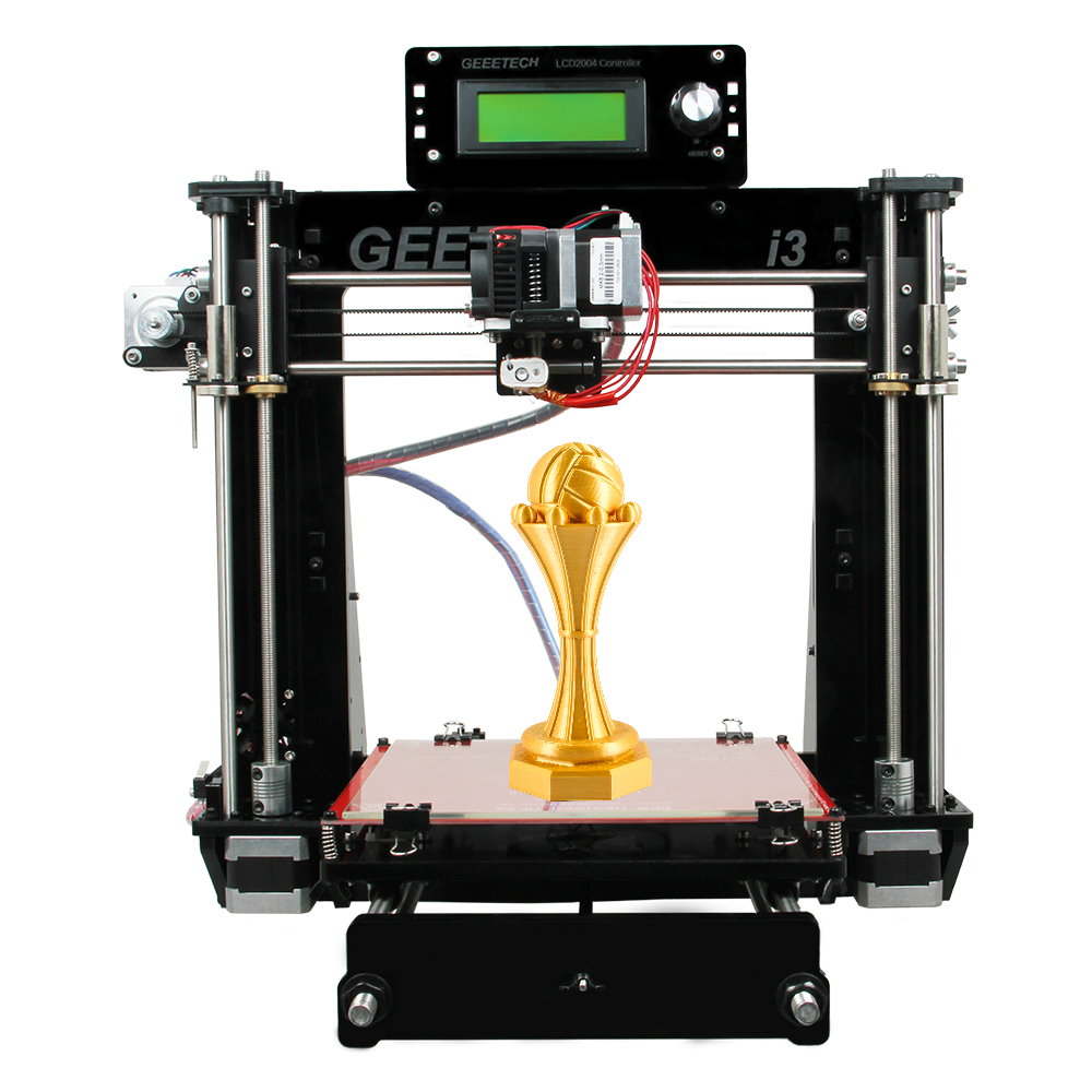 Geeetech 3D Printer Reprap i3 Pro B DIY Kit GT2560 Main Board LCD2004 5 Materials Support 2016 Nyeste oppgradert