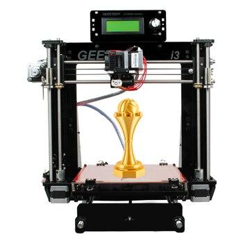 Geeetech impressora 3d reprap i3 pro b kit diy gt2560 placa principal lcd2004 5 materiais suporte 2016 mais novo atualizado
