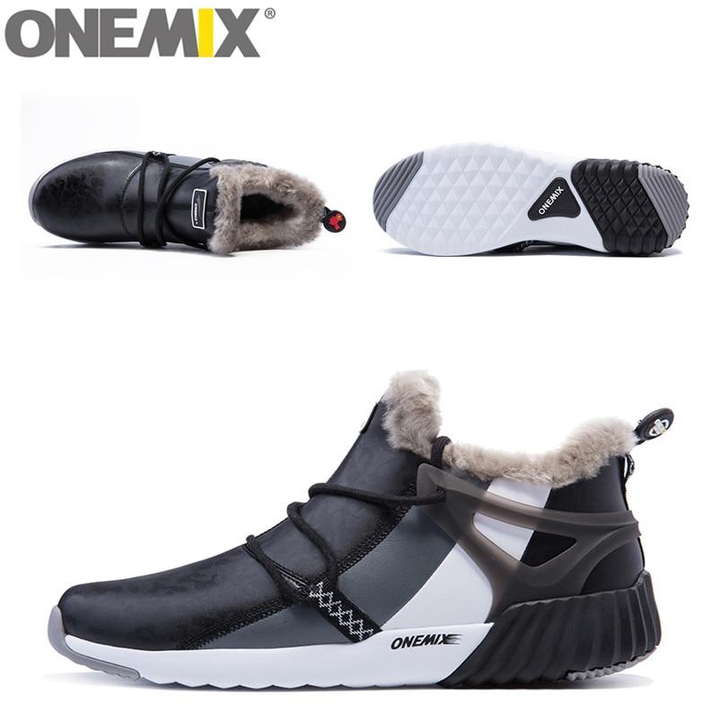 ONEMIX Vandtæt Snow Boots Kvinder Sneaker Mænd Trainers Walking - Kondisko - Foto 4