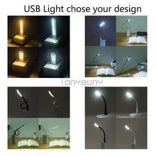 Flexible Portable 5V 1 2W Mini USB LED Night Light Glow Bright Reading Table Lamp For