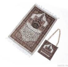 Cotton Yarn Muslim Prayer Rug Grey Rug for Living Room Kitchen Rug Rectangle Small Carpet Indian Rugs Tassel Outdoor Tiles Mat