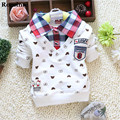 2017 New Brand Baby T-Shirt Children Clothes Toddler Infant Newborn Baby Kids T-Shirt Blouse Top Baby Sweatshirt Plaid T-shirt