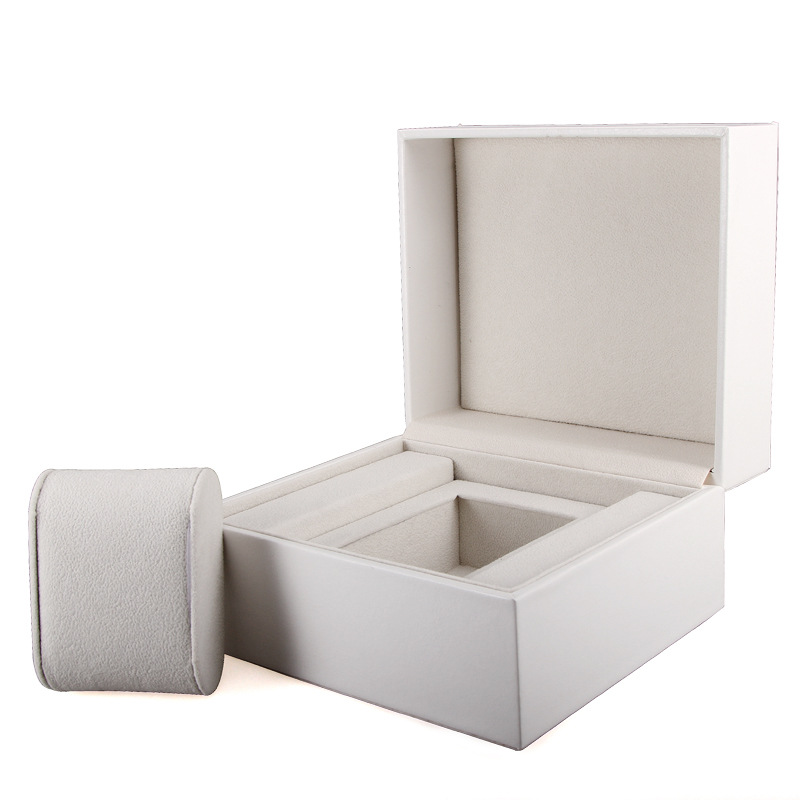 Piano Wooden Box High-end Watch Box White PU Leather Jewelry Collection Gold Bar Coin Storage Box Organized caixa para relogio