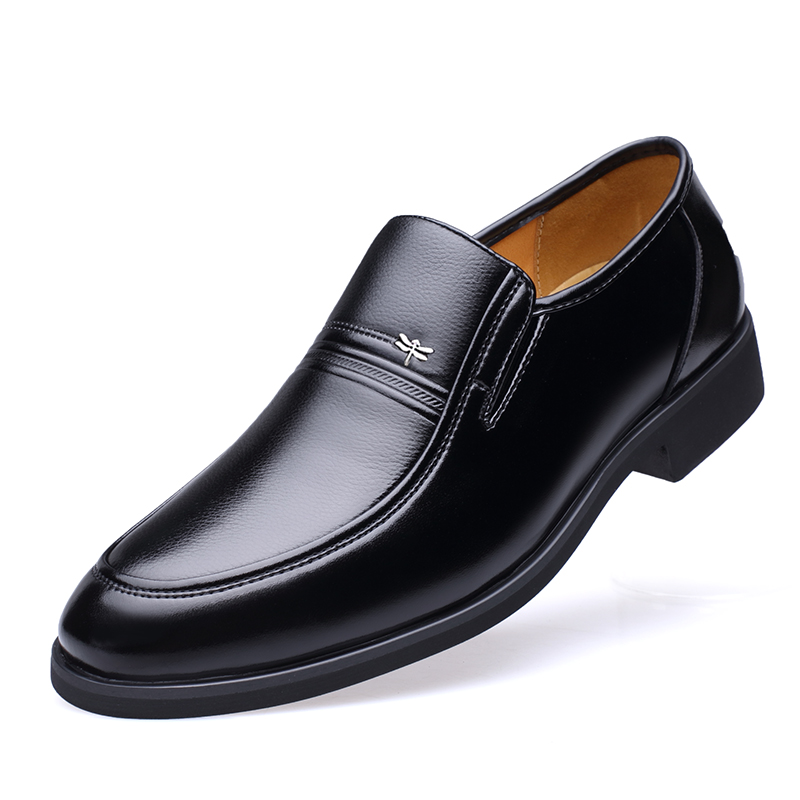 Luxury Brand Genuine Sheepskin Leather Fashion Men Business Shoes Black Oxfords High Quality Breathable Formal Shoes DA042