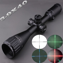 Red Green Blue llluminate Mil-Dot 3-9X40 AO Tactical Rifle scope Optical Sight Full Size Hunting Optics Riflescope w/ Sunshade bsa mil dot 8 32x40 ao rifle scope 25 4mm scope ring mount rbo