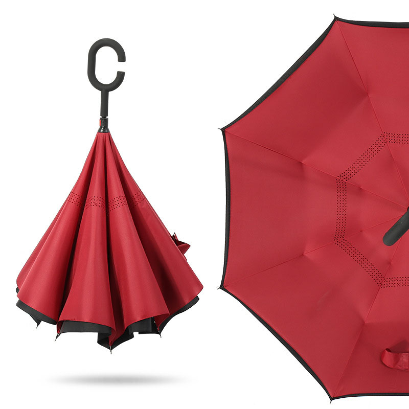 Reverse Folding Umbrella Double Inverted Weatherproof Car UV Protection Unisex 2019 New Free Shipping