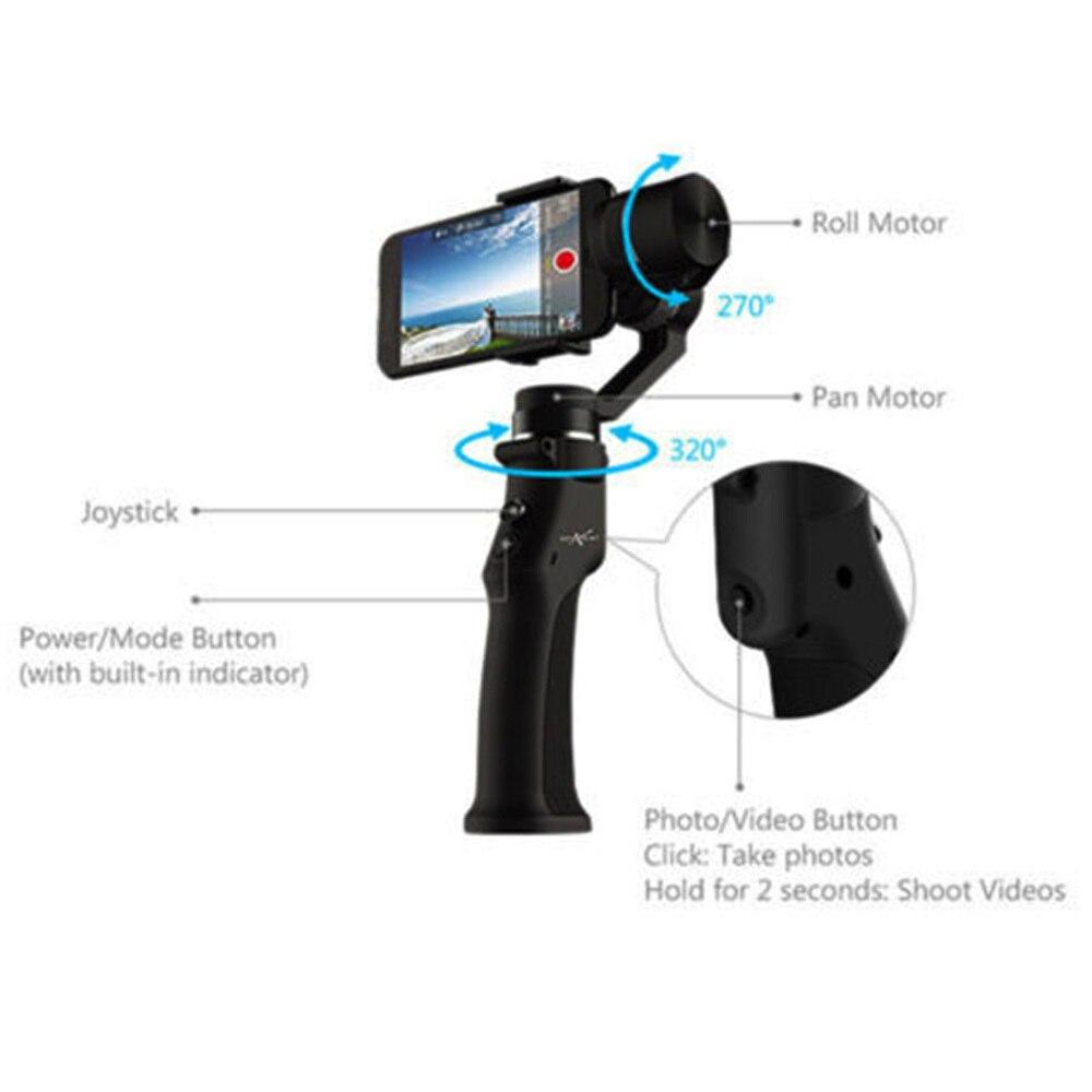 Cardan de stabilisateur cinématographique tenu dans la main de Roll3 Axis de 320 degrés avec la batterie pour le Smartphone - 5